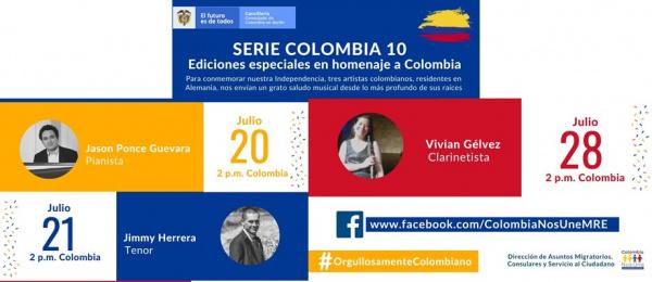 Con música el Consulado de Colombia en Berlín conmemora el Día de la Independencia