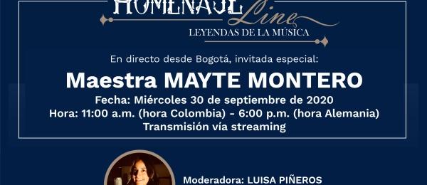 La Cancillería invita a la comunidad colombiana en Berlín a participar en el homenaje a MAYTE MONTERO, el próximo miércoles 30 de septiembre