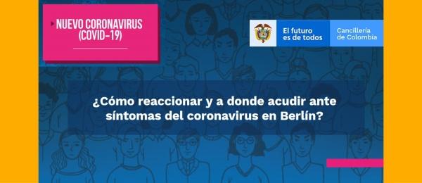 ¿Cómo reaccionar y a donde acudir ante síntomas del coronavirus en Berlín?